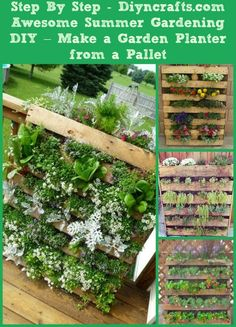 Awesome Summer Gardening DIY – Make a Garden Planter from a Pallet  You know you just love planting those summer gardens. Even if you don't have a relatively large space for your garden, you can still plant your favorites this summer by making your own garden planter. This planter made from an old shipping pallet is great and it is very easy to make; not to mention cheap.