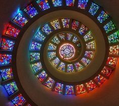 Stained glass color swirl