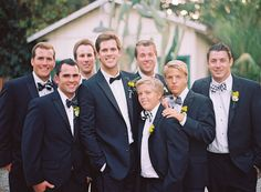 Let the groomsmen pick their own pattern in the same colors. Choose from a variety of ties from www.thetiebar.com