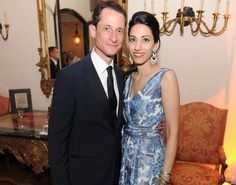 Happier times: Huma Abedin and the former Rep. Anthony Weiner dress to the nines to attend the Bloomberg
