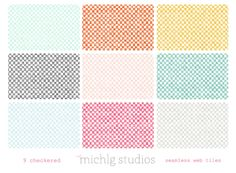 9 checkered seamless web tiles/blog or website bac - Luvly Marketplace | Premium Design Resources #seamless #pattern