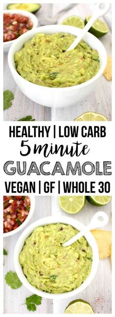 Simple & fresh guacamole that is ready in five minutes. Always a crowd-pleaser! (Vegan, Gluten-Free, Paleo, Low-Carb)
