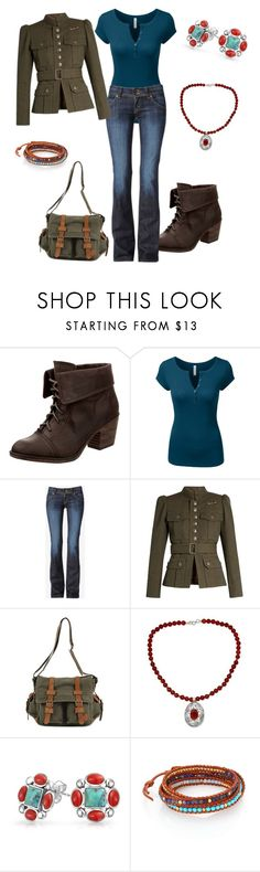 """""""Professor Inspired"""" by devorah-wells ❤ liked on Polyvore featuring Rocket Dog, Hudson Jeans, Marc Jacobs, NOVICA, Bling Jewelry and Chan Luu"""