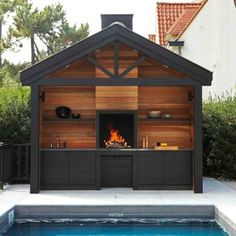 Stainless steel outdoor kitchen, mobile, design, barbecue, plancha … – Famous Last Words Design Barbecue, Design Grill, Backyard Kitchen, Outdoor Kitchen Design, Design Kitchen, Kitchen Ideas, Outdoor Rooms, Outdoor Living, Outdoor Decor
