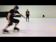 7 Minutes to a Perfect Hockey Stop Roller Derby Drills, Roller Derby Skates, Quad Skates, Roller Skating, Hockey Stop, Oh Captain My Captain, Derby Time, Hockey Training, 7 Minutes