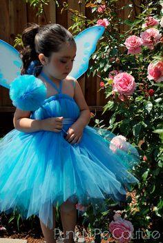 Fabulous Blue Pixie Fairy Tutu Dress Birthday by punknpiecouture, $50.00