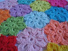Crochet flowers.
