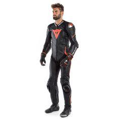 Motorcycle Suit LAGUNA SECA 4 1PC PERF. LEATHER SUIT - Professional leather suit   Dainese Motorcycle Wear, Hip Bones, Cowhide Leather, Trunks, Suits, How To Wear, Bikers, Swag, Racing