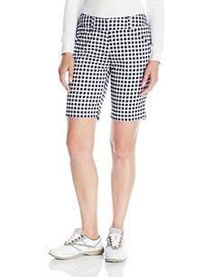 """Callaway Women's Golf Performance 19\"""" Gingham Shorts, Blue (410), Size 8 ** Click image for more details."""
