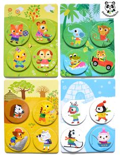 Lottó 4 barát fejlesztő játék -Djeco Loto 4 friends | Pandatanoda.hu Játék webáruház