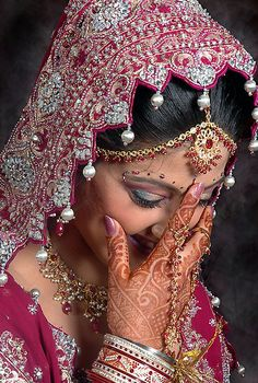 THE BLUSHING BRIDE by RakeshSyal / Just look at all that detail. Beautiful..