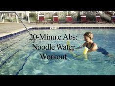20-Minute Abs: Noodle Water Workout - YouTube