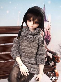 138.00$  Watch here - http://ali3rs.worldwells.pw/go.php?t=32329506227 -  1/4th scale 41cm  BJD doll nude with face Make up, SD doll Winter Boy.not included Apparel and wig 138.00$