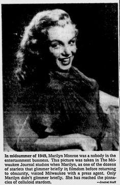 Juillet 1949 Studio de Milwaukee - Divine Marilyn Monroe