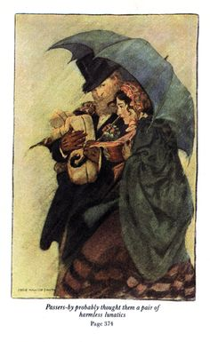 Jessie Willcox Smith - Little Women  Under the umbrella with the Professor. I want this on my wall.
