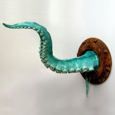 Wall Tentacle Teal Cthulhu by ArtAkimbo on Etsy, $375.00