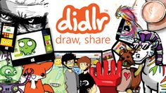 Didlr // Draw and Share - it's that simple! Didlr is everything everyone is drawing! Draw on your PC, tablet, smartphone & on web. Share your creations with the world instantly! So you draw a 'didl' on your screen using simple controls. Didls are cool, they draw back just the way they were drawn. Didl ANYTHING. Draw what you see, draw how you feel. Draw stuff that inspires you and others. Use your amazing imagination. Draw anything you want to share!