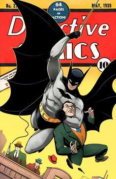 Detective Comics 27 homage by Luciano Vecchio Batman Comic Books, Comic Book Characters, Comic Books Art, Comic Art, Joker Batman, Batman And Superman, Batman Arkham, Batman Robin, Batman Artwork