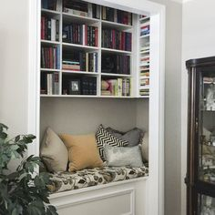 My mom's library made in her piano room closet! She's so clever! Kathy Carrison
