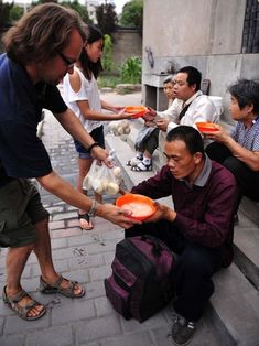 Tony sold his cars, house, and all of his possessions, moved to China, and has been feeding the homeless ever since!
