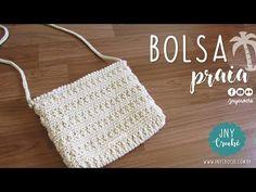 Bolsa de crochê Praia | Professora Ju - JNY Crochê - YouTube
