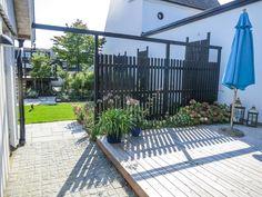 Outdoor Patio Designs, Outdoor Decor, Fenced In Yard, Home Deco, Plank, Outdoor Gardens, My House, Outdoor Living, Pergola