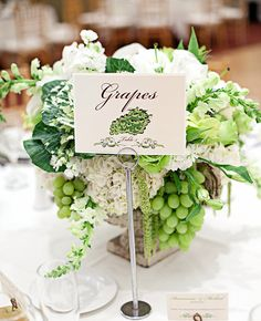 For Something Different ... Green Grapes Centrepiece Inspiration | Meg Perotti | Blog.theknot.com