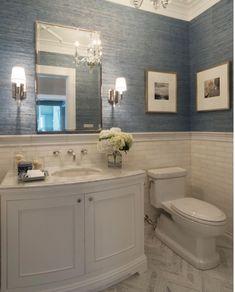 Bath Design, Home Design, Design Bathroom, Design Ideas, Design Inspiration, Bathroom Wallpaper Beach, Budget Bathroom Remodel, Bathroom Makeovers, Tub Remodel