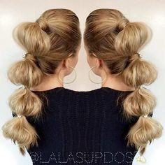 Bubble Ponytail + Hair Accessories