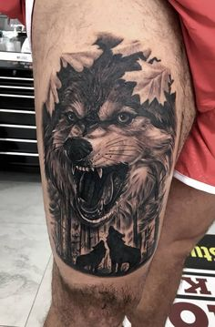 As we mentioned above, today we're going to satisfy our ink hunger with the most beautiful wolf tattoo designs that the internet has ever seen Tattoos Masculinas, Wolf Tattoos Men, Trendy Tattoos, Animal Tattoos, Tattoos For Guys, Wolf Tattoo Design, Tattoo Designs, Tattoo Studio, Wolf Face Tattoo