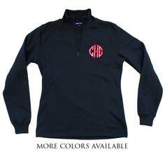 Black Appliqué Monogram Sweatshirt | $44 | jewelboxonline.com