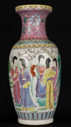 China 20. Jh. Bodenvase - A Chinese Export Porcelain Vase - Vaso Cinese Chinois