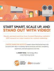 By ROBERT ROSE published JULY 29, 2015 Video Start Smart, Scale Up, and Stand Out With Video