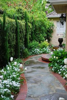 51 Smart Ideas to Make Evergreen Landscape Garden on Your Front Yard - Page 18 of 52 Evergreen Landscape, Asian Landscape, Landscape Design, Garden Design, Front Yard Walkway, Front Yard Landscaping, Fast Growing Evergreens, Landscaping Tips, Small Gardens