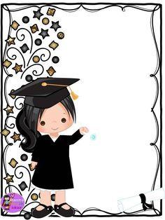 Fellow and teacher friends we thank Master Karen Liiz Salazar for di . Graduation Images, Graduation Cards Handmade, Graduation Crafts, Graduation Theme, Kindergarten Graduation, Graduation Invitations, Diy Home Crafts, Diy Arts And Crafts, School Border