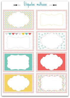 Etiquetas descargables gratis para personalizar,  Tags to download, Etiquette à télécharger. Más imprimibles en nuestro blog fdefifi.blogspot.com.es - Craft & Deco blog - #printable #imprimible #label