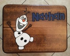 Kids Olaf Stools by PoppsiesWorkshop on Etsy, $40.00