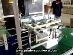 pad printing machine for plastic Basket,Pad printing line for Styrene Box