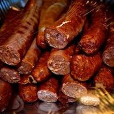 I love me some cajun food:). Cajun Andouille - more food to die for! How I miss Cajun cooking. Andouille Sausage Recipes, Homemade Sausage Recipes, Eckrich Sausage, Cajun Cooking, Cooking Recipes, Cajun Food, Creole Cooking, Cooking Ideas, How To Make Sausage