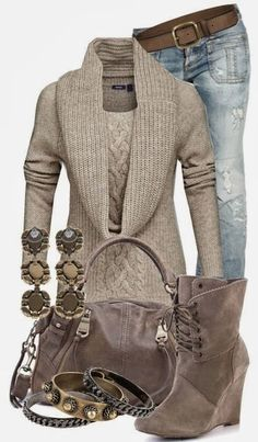 Cozy Sweater With Jeans//everything with the exception of those shoes!