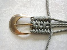 Check out this cool tutorial for a woven cord belt. #DIY
