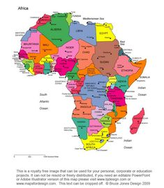 free africa map worksheet