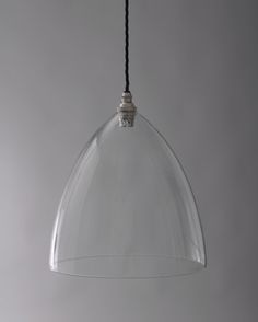 Designer Lighting, Ledbury Clear Glass Pendant Light