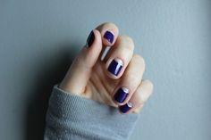 The Matte Standard - Super simple glitter half moon manicure! using Nails Inc. 'Old Bond Street' #naildesigns #nailart #halfmoon #manicure #nailvarnish #naillacquer #themattestandard #elegant #simple #diy #simplenailart