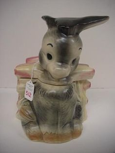 Donkey Brush Cookie Jar. , via Etsy.