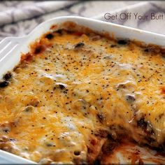 "Cheesy Enchilada Casserole    I""m for sure trying this one!!!!!!!  Looks delish!  (I'm actually looking for healthy recipes at the moment but anything with cheese or potatoes catches my eye!!!!  lol"