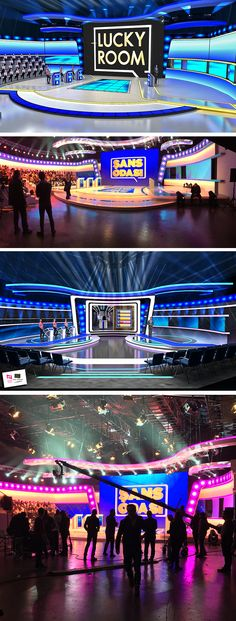 TV Show Studio, TV Entertainment Show Studio,TV show design, TV Studio design, TV competition Show Tv Set Design, Stage Design, Diy Playing Cards, Virtual Studio, Tv Show Games, Stage Set, Studio Design, Casino Theme, Competition