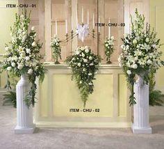 wedding floral arrangements | wedding flower arrangements church