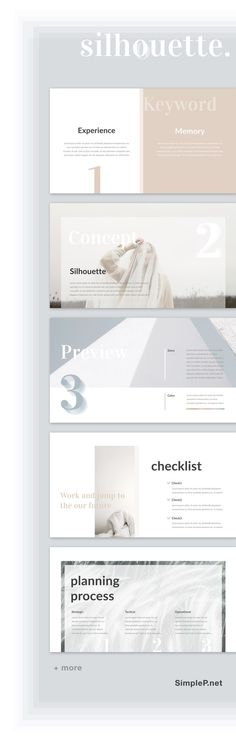 Silhouette Keynote Presentation Template #keynote #minimal #silhouette #simple #layout #checklist #keyword #process #concept #business #planner