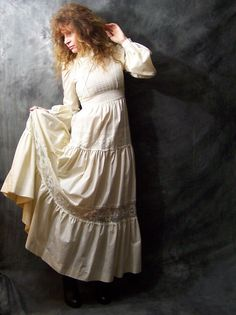 Vintage 1970s Jessica McClintock Gunne Sax Dress...I wore Gunne Sax to my junior prom